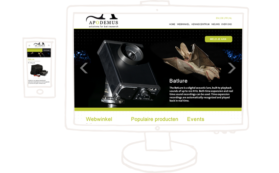Apodemus webshop ontwerp